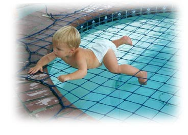 Katchakid Pool Safety Net protects children